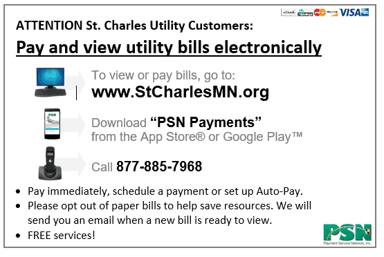 Pay Your Bill to the City of St  Charles, MN